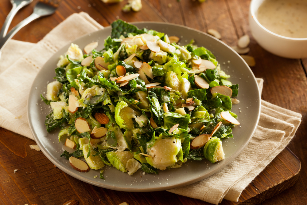 Brussel Sprout Salad with Kale