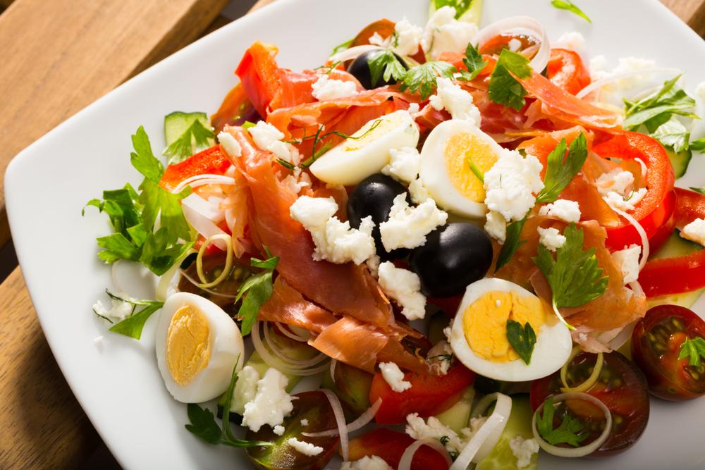 Shepherd's Salad with Hard-Boiled Eggs