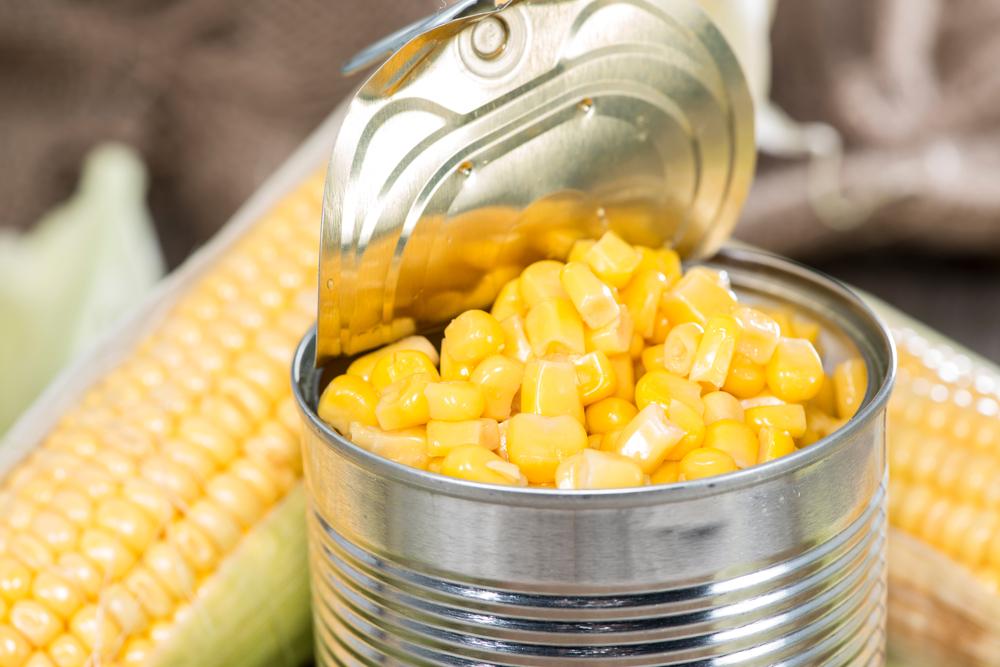 Can of sweet corn