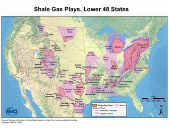 Active Shale Gas Plays