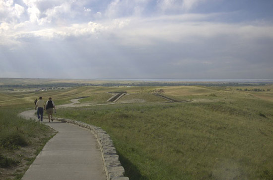 Overcast Day at the Little Bighorn Memorial in Eastern Montana
