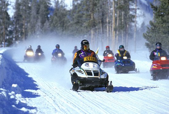 Snowmobile Tour at Yellowstone National Park