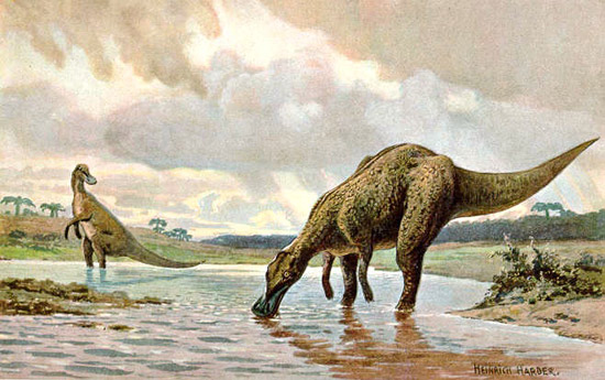 Artist's Depiction of Maiasaurs