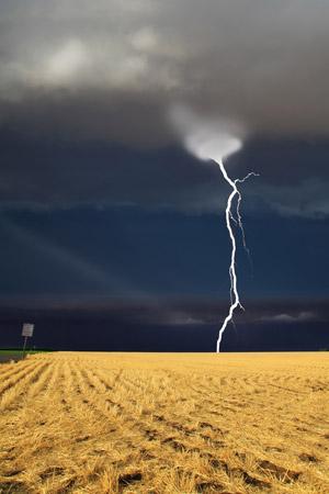 Lightning Strike on the Plains of Montana