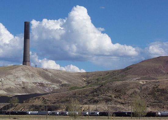 Historic Anaconda Copper Mining Company Smokestack
