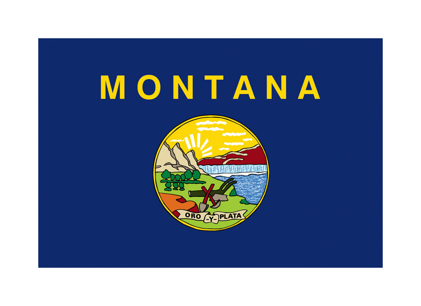 Outline Flag of Montana