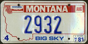 License Plate 4382
