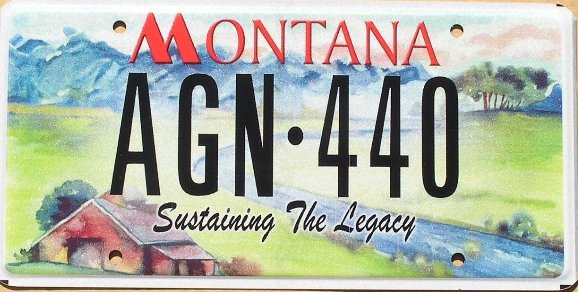 License Plate 9921
