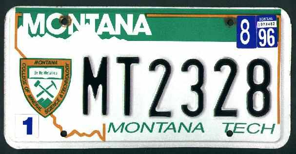 License Plate 9876