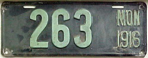 License Plate 6625