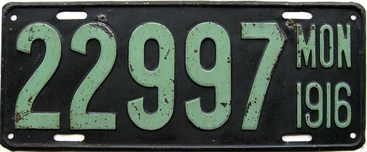 License Plate 18422