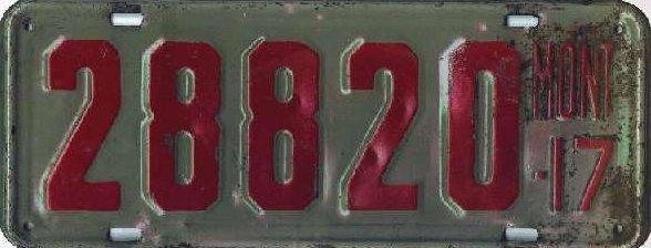 License Plate 18432