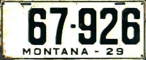 License Plate 18648