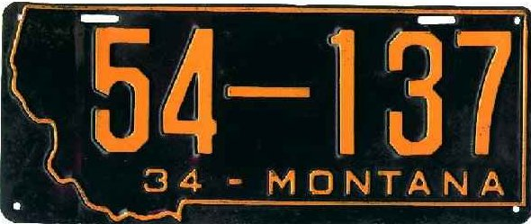 License Plate 18185