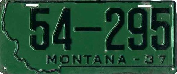 License Plate 18333