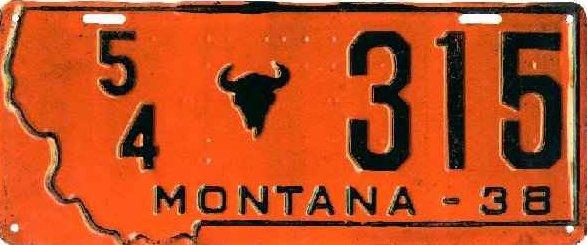 License Plate 6238