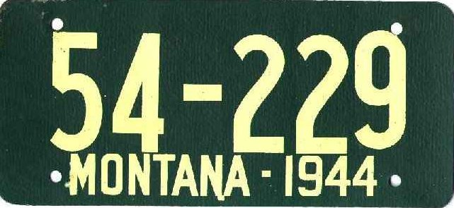 License Plate 17986