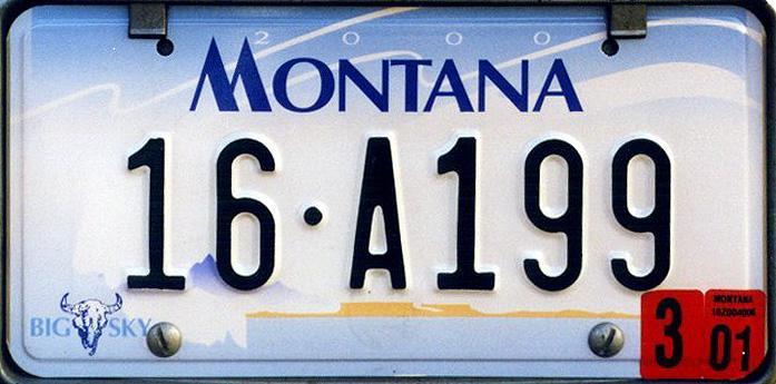 License Plate 9837