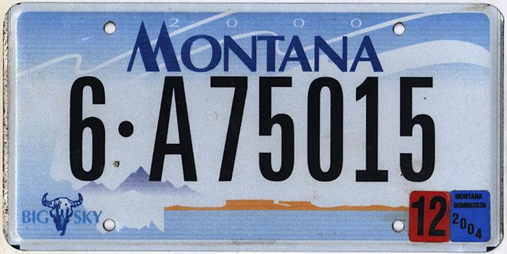 License Plate 9747