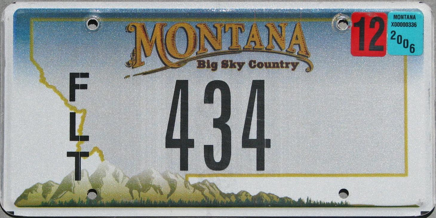 License Plate 9845