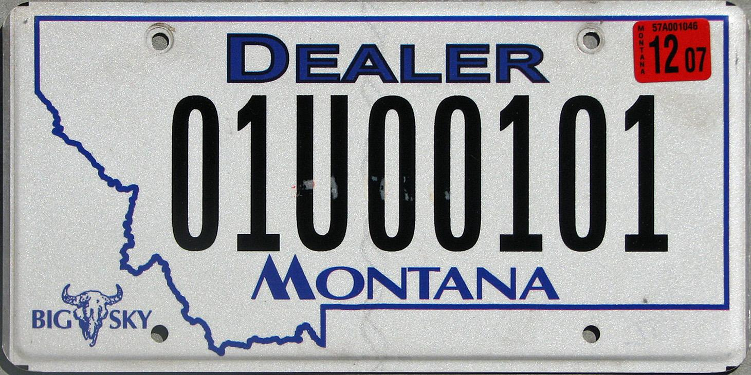 License Plate 9707