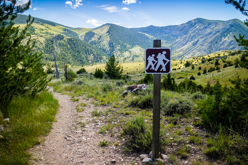 The Eastside Mountain Trail at Lewis and Clark Caverns State Park.
