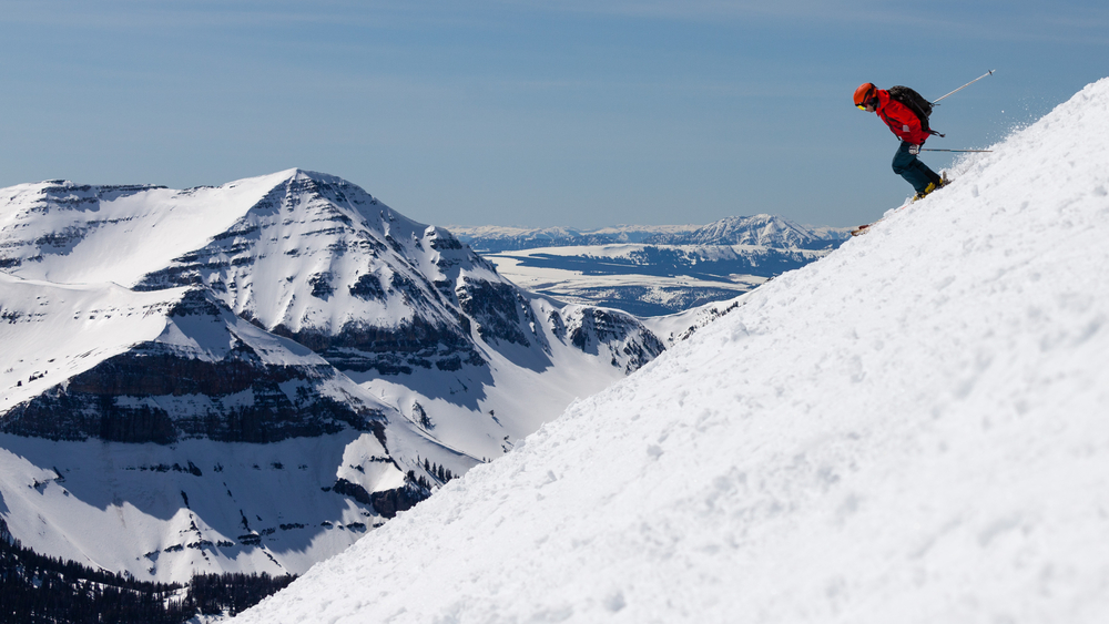 A skier at the area\'s Big Sky Resort.