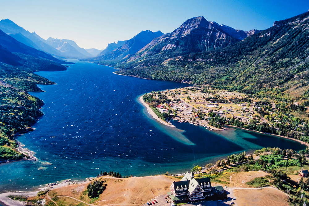 Dramatic scenery like this defines the area of Waterton-Glacier International Peace Park.