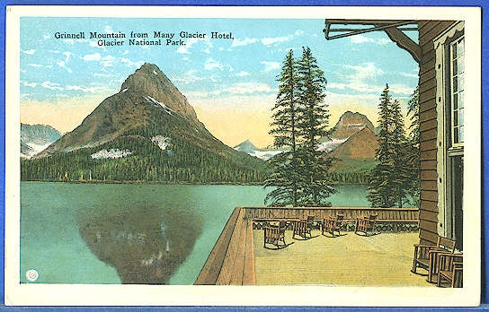 Grinnell Mountain From Many Glacier Hotel, Glacier National Park.