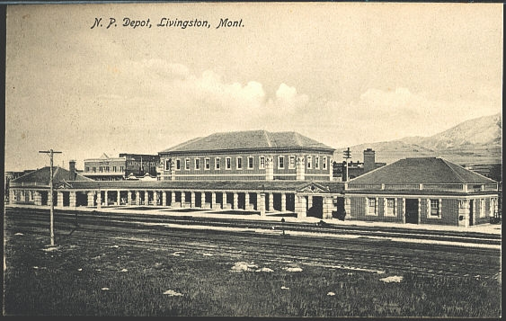 N. P. Depot Livingston, Mont.