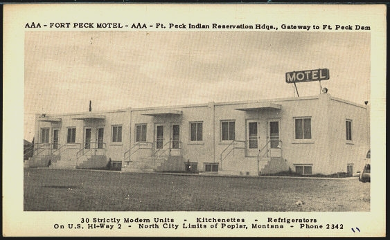AAA - Fort Peck Motel - AAA - Ft. Peck Indian Reservation Hdqs., Gatewa