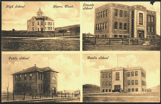 High School Havre Mont. Lincoln School Pubilic School Devlin School