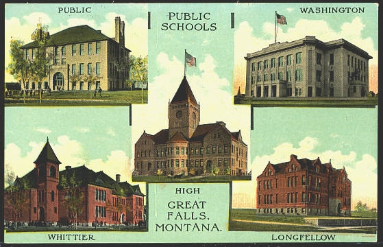 Public Public Schools Washington Whittier High Great Falls Montana. Longfellow