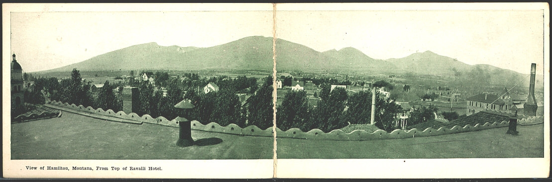 View Of Hamilton, Montana, From Top of Ravalli Hotel.