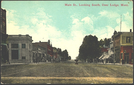 Main St. Looking South, Deer Lodge, Mont.