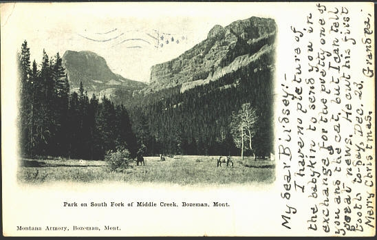 Park on South Fork Of Middle Creek, Bozeman, Mont. Montana Armony,