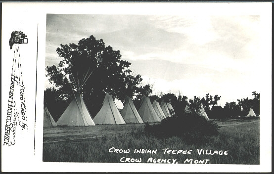 Crow Indian Teepee Village Crow Agency, Mont.