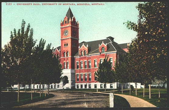 University Hall, University Of Montana, Missoula, Montana.