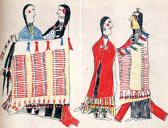 1700: Cheyenne courting scenes