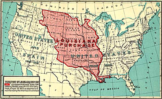 1803: Map of the Louisiana Purchase