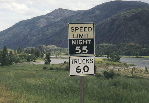 1999: Speed limit sign in Montana.