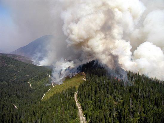 2003: Glacier National Park fires